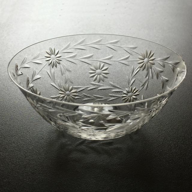 グラスウェア「フラワーカット 小鉢 6客セット 直径11.3cm」