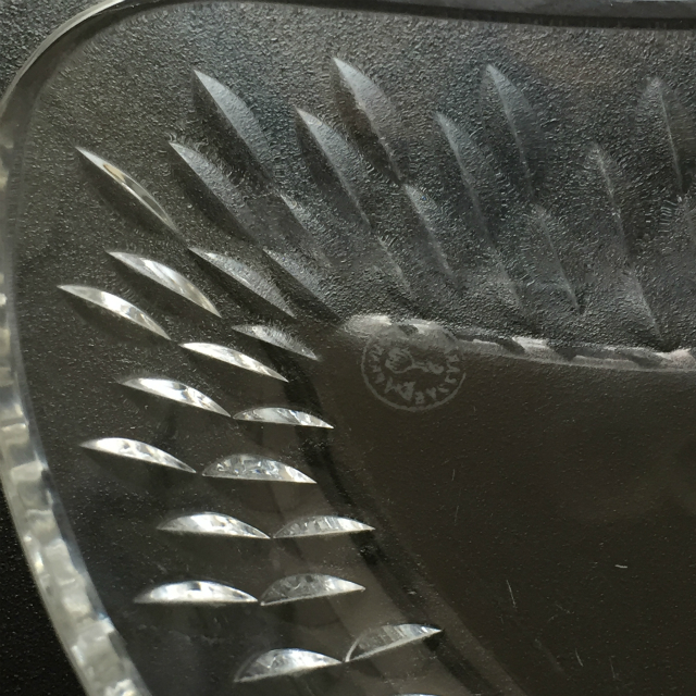 グラスウェア「【残り1枚】パリ クレセント皿 幅19.8cm」
