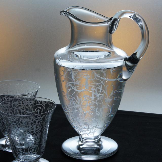 グラスウェア「ミケランジェロ ピッチャー(小)高さ20.3cm」