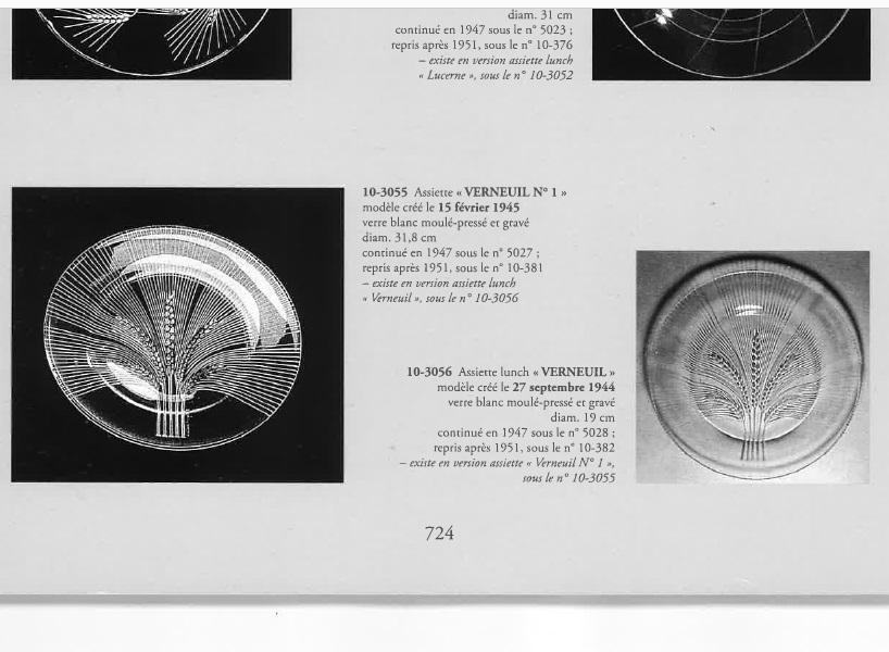 グラスウェア「【在庫1枚のみ】大皿 ヴェルヌイユ 直径32cm」