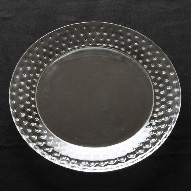 グラスウェア「【在庫1枚のみ】皿 カクタス 直径22.3cm」